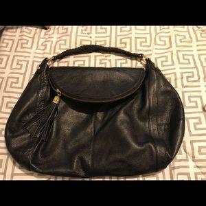Onna Ehrlich Black Leather Oversized Hobo Bag